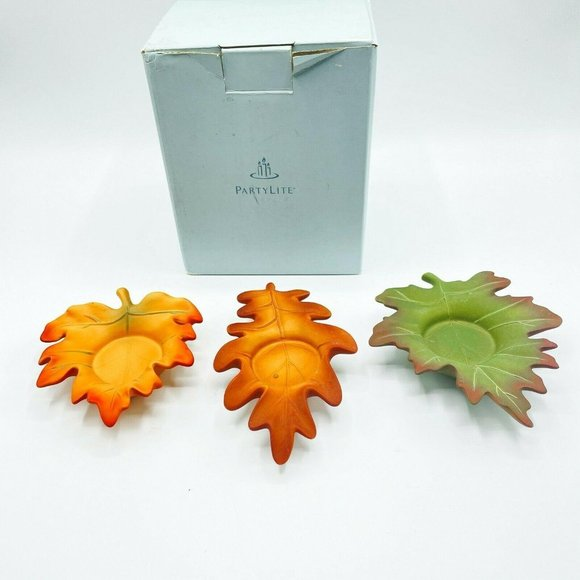 Partylite Whispering Leaves Tealight Candle Holder